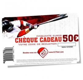 Cheque cadeau 417feet 50 Euros