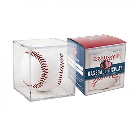 Cube transparent pour balle de baseball collector