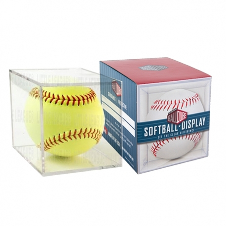 Cube transparent pour balle Softball collector