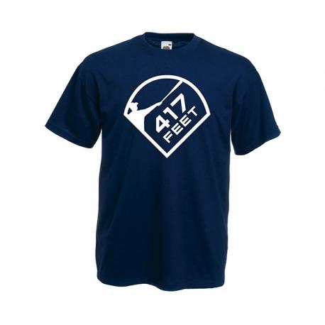 T-shirt navy grand 417feet blanc
