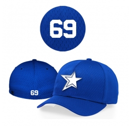 Casquette Baystars 495 royal Flex personnalisee