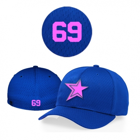 Casquette Baystars Pink 495 royal Flex personnalisee