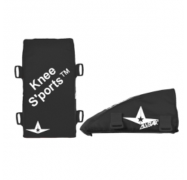 Coussins genoux Adulte Kneesaver All Star noir