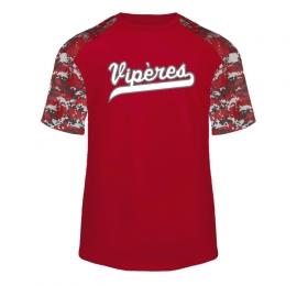 T-shirt Digital Camo rouge Viperes