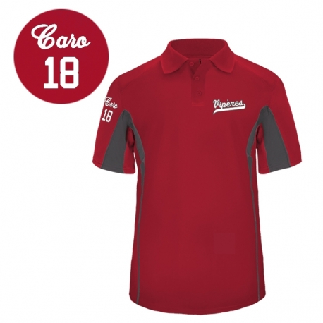 Polo Drive rouge Viperes personnalise