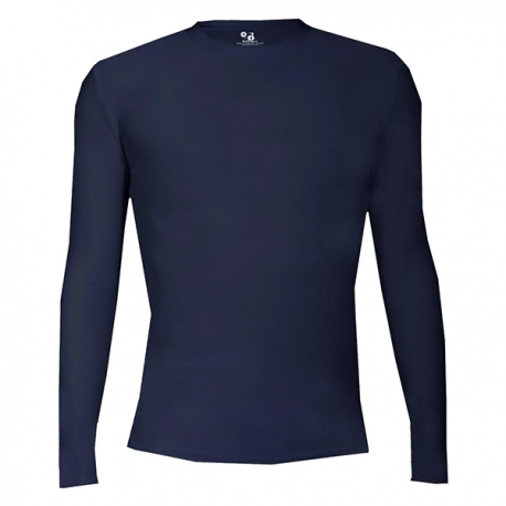 Pro Compression L/S Badger NAVY