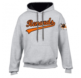 Sweat Brode gris RENARDS adulte
