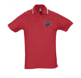 Polo Hawks rouge homme