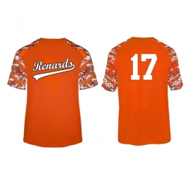 T-shirt Digital Camo orange RENARDS personnalise
