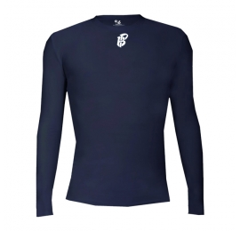 Pro Compression NAVY L/S crew Badger  PIRATES