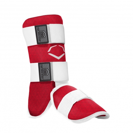 Protection pied-cheville-tibia EVOSHIELD adulte rouge  LEG GUARD