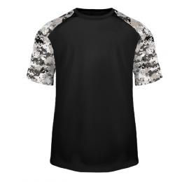 T-shirt Camo noir