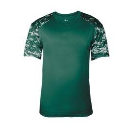 T-shirt Camo Badger Dark Green