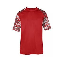 t-shirt camo rouge