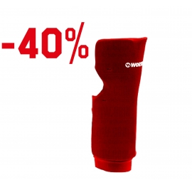 Protection en mousse pour jambe tibia - Worth - rouge