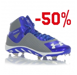 Chaussure Mid UNDER ARMOUR Spine Heater Bleu/Gris