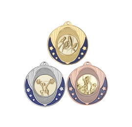 Medaille emaillee argent 50mm