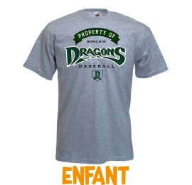 T-shirt Property Dragons de Ronchin enfant gris