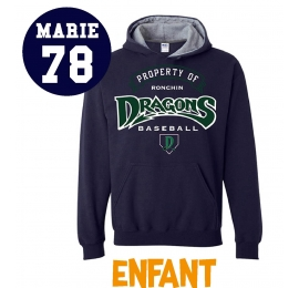Sweat Dragons de Ronchin enfant navy
