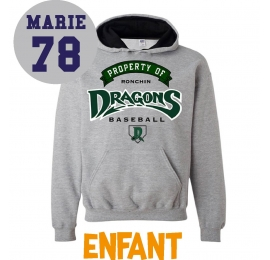 Sweat Dragons de Ronchin enfant gris