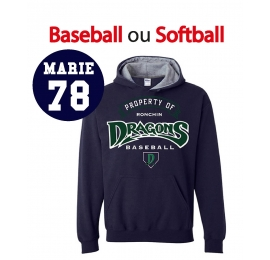 Sweat Dragons de Ronchin adulte navy