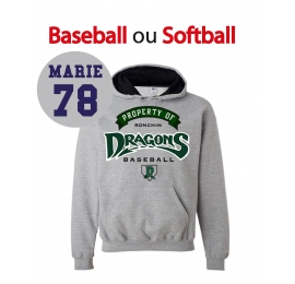 Sweat Dragons de Ronchin adulte gris