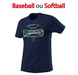 T-shirt sport DRAGONS Baseball Adulte