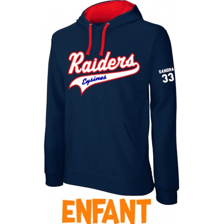 Sweat à capuche enfant Raiders d'Eysines