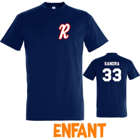 T-shirt Raiders d'Eysines navy