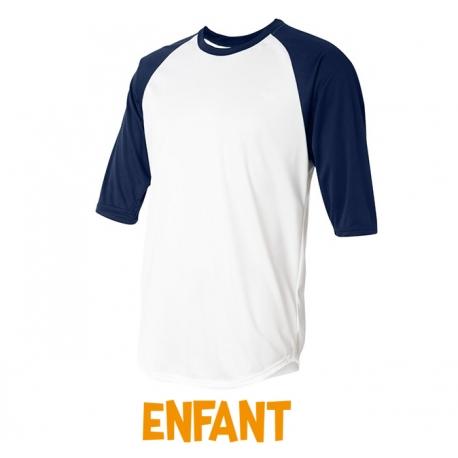 Undershirt coton enfant 3/4 navy