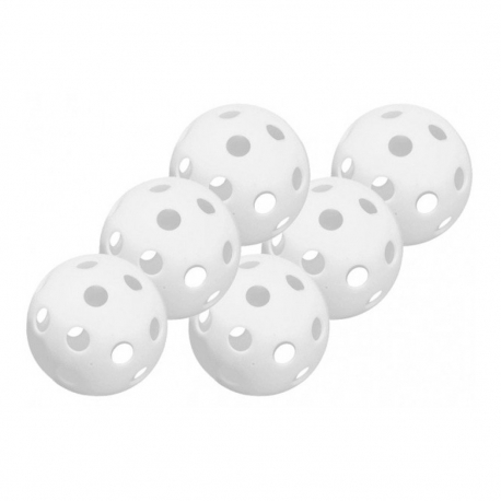 Pack de 6 balles wiffle blanches Easton