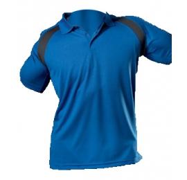Polo HANES Bleu Royal / Gris