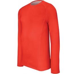 Undershirt manche longue adulte (semi-chaud) rouge